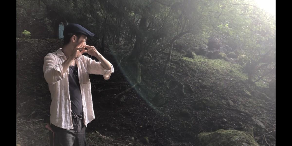 篠笛即興演奏@雛鶴神社の森